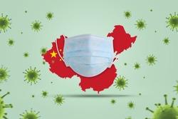 Coronavirus public health risk disease and flu outbreak on china or coronaviruses influenza background as dangerous. Coronavirus helath crisis concept.