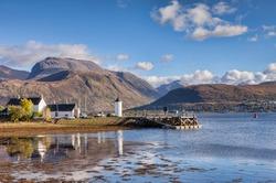 Corpach and Ben Nevis, Fort William, Highland, Scotland, UK