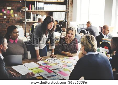 Corporate Achievement Teamwork Office Concept