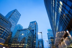 Corporate building Financial Skyscrapers Office center in the Canary Wharf, City of London