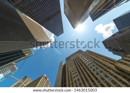 Corporate business office buildings low angle #1463015003