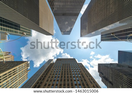 Corporate business office buildings low angle #1463015006
