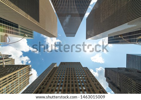 Corporate business office buildings low angle #1463015009