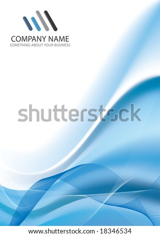 Corporate Business Template Background (vector version in my portfolio already)