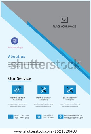 Corporate Flyer....  Corporate Flyer . This layout is suitable for any project purpose. Very easy to use and customise.