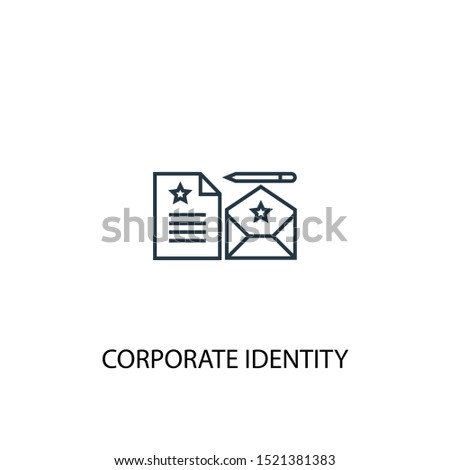 corporate identity concept line icon. Simple element illustration. corporate identity concept outline symbol design. Can be used for web and mobile UI/UX