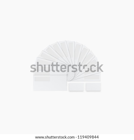 Corporate identity template / templates:blank, business cards, envelope. / Isolated with soft shadows - stock photo