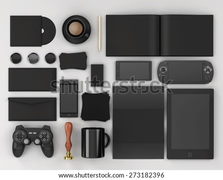 Corporate identity templates. Corporate identity templates:blank, business cards, disk, envelope, smart phone, pen, badge, cup, brand-book, tablet pc, watch, sunglasses, badges.