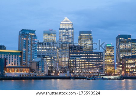 Corporate Office building in Canary Wharf, London Stockfoto ©