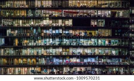 Corporate office in London - night view