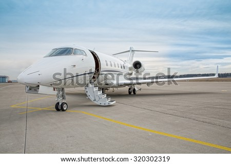 corporate private jet - plane