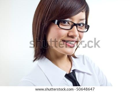 Corporate women smiling