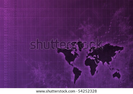 Corporate Worldwide Growth Abstract Background With Map