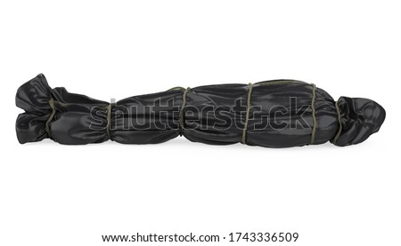 Corpse Body Bag Isolated. 3D rendering Foto stock ©