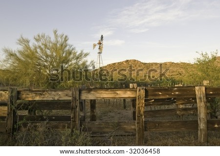 corral fence in the desert