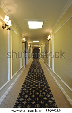 Corridor at a funeral home