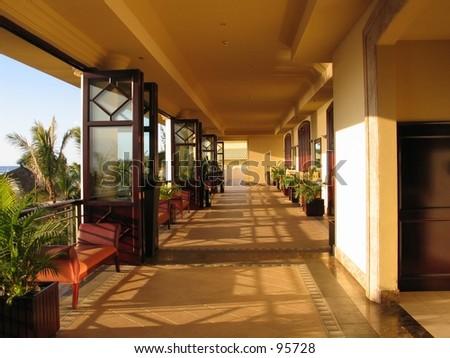Corridor at a resort