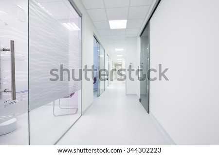 Corridor in a modern clinic
