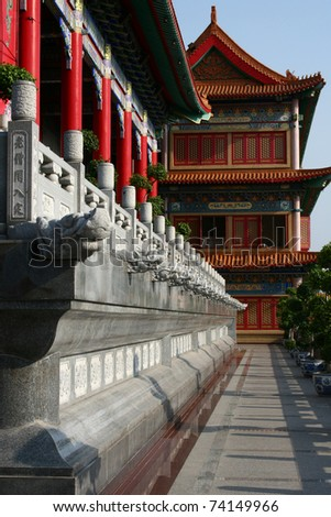 Corridor in Chinese Temple