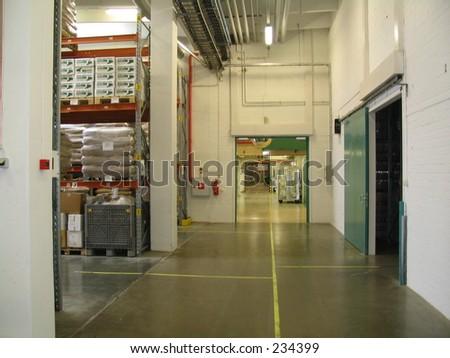 corridor in factory
