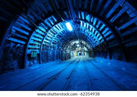 Corridor in mine