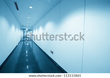 corridor in modern office building