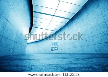 corridor in modern office building