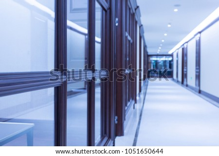 Corridor of a large corporate office #1051650644