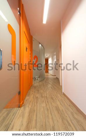 Corridor of a modern dental clinic