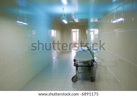 corridor to the operative room