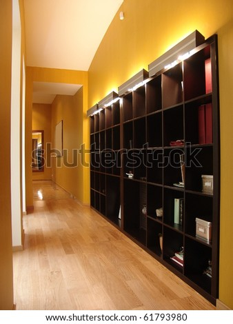corridor with big shelving
