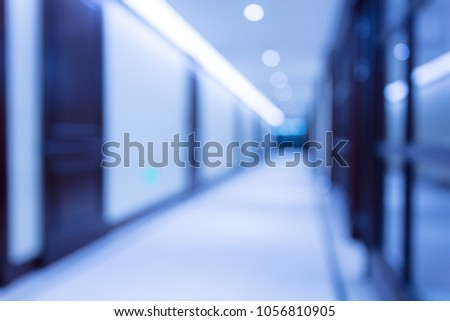 Corridor with blurred background #1056810905