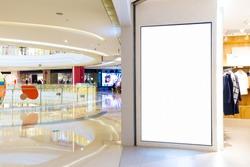 corridor with light box in modern shopping mall