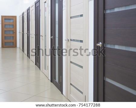 corridor with many doors.