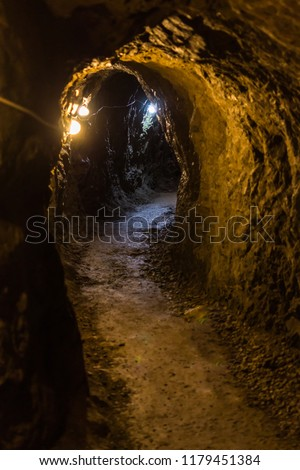 Corridors and drifts in the mine. #1179451384