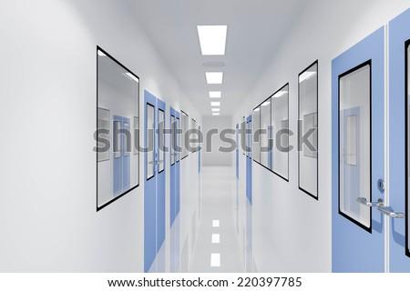Corridors For Clean room pharmaceutical plant