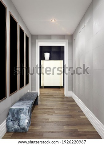Corridors with doors and hall in modern flat Foto stock ©