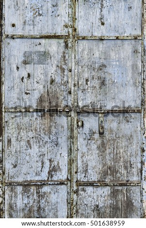 Corroded metal door, Jodhpur, Rajasthan, India #501638959