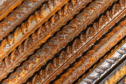 Corroded steel material closeup photo