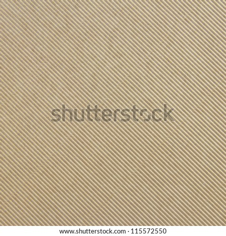 Corrugated cardboard background diagonal texture