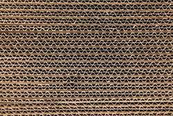 corrugated cardboard background with overlapping panels