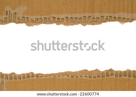 Corrugated cardboard border with a white area for text.
