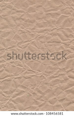 Corrugated craft paper texture