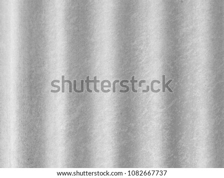 Corrugated fiber cement sheet texture or background seen in vertical repetitive pattern. #1082667737