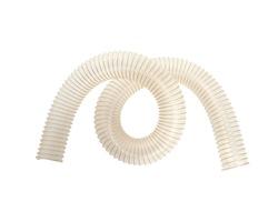 Corrugated polyurethan pipe isolated on white background