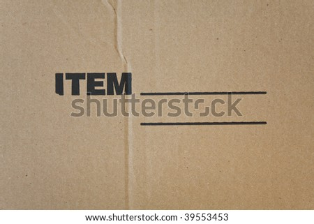 Corrugated recycled carton with black imprint