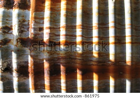Corrugated Rust - stock photo