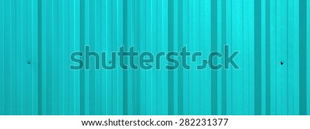Corrugated sheet as background - aqua green color