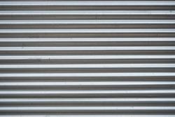 Corrugated sheet background, Metallic texture.