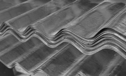 Corrugated sheets of metal